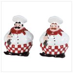 Chubby Chef Salt and Pepper Shakers -34322