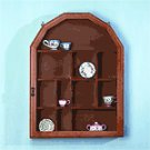 Wood Shelf-Glass Door -21923