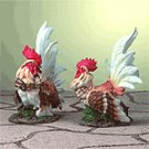 Porcelain Rooster Pair -28524