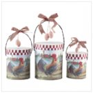 3 Pc Rooster Paper Gift Boxes -32386