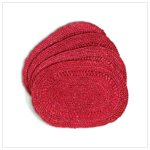 Red Oval Placemats -36608