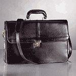 Black Top Grain Briefcase -25295