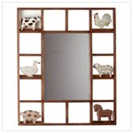 Country Animals Framed Wall Mirror -35117