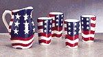Patriotic Pitcher and Tumblers Set -32293