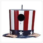 Metal Stars and Stripes Hat Birdhouse -34250