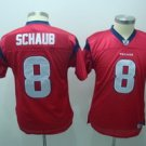 Houston Texans #8 Matt Schaub Red Youth Youth Jersey