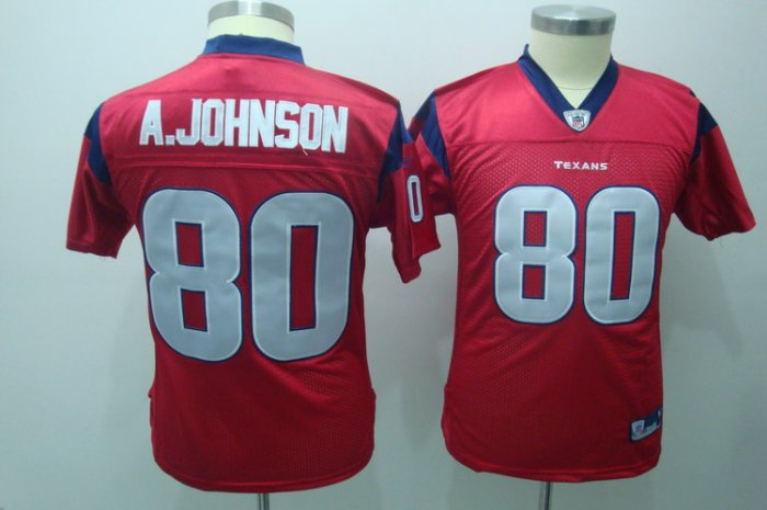 Andre Johnson #80 Red Jersey Houston Youth Texans
