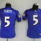 Joe Flacco #5 Purple Baltimore Ravens Youth Jersey