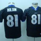 Anquan Boldin #81 Black Baltimore Ravens Youth Jersey