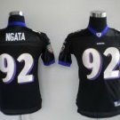 Hiloti Ngata #92 Black Baltimore Ravens Youth Jersey