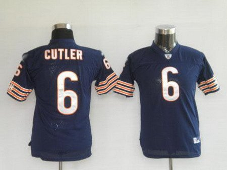 Jay Cutler #6 Navy Chicago Bears Youth Jersey