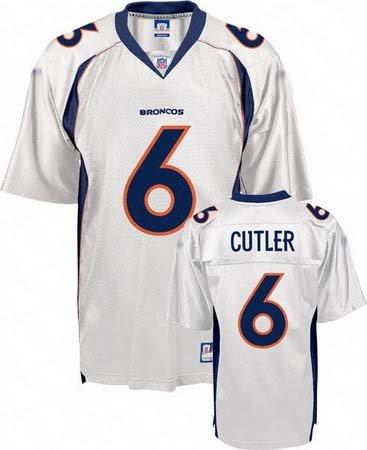 Jay Cutler #6 White Denver Broncos Youth Jersey