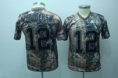 Aaron Rodgers #12 Camo Green Bay Packers Youth Jersey