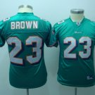 Ronnie Brown #23 Green Miami Dolphins Youth Jersey