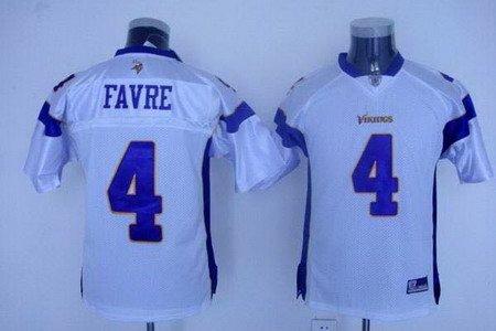 Brett Favre #4 White Minnesota Vikings Youth Jersey