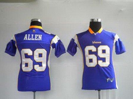 Jared Allen #69 Purple Minnesota Vikings Youth Jersey