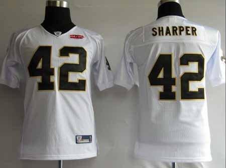 Darren Sharper #42 White New Orleans Saints Youth Jersey
