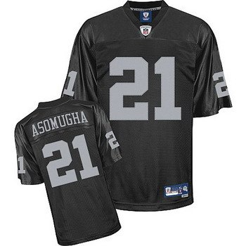 Nnamdi Asomugha #21 Black Oakland Raiders Youth Jersey