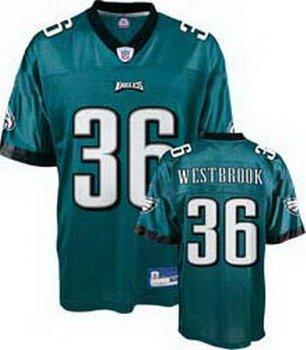 Brian Westbrook #36 Green Philadelphia Eagles Youth Jersey