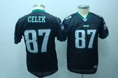 Brent Celek #87 Black Philadelphia Eagles Youth Jersey