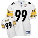 Brett Keisel #99 White Pittsburgh Steelers Youth Jersey