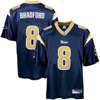 Sam Bradford #8 Blue St. Louis Rams Youth Jersey
