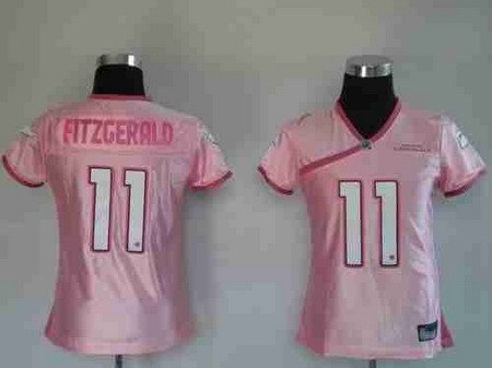 Larry Fitzgerald #11 Pink Arizona Cardinals Women's Jersey