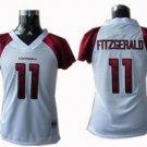 Larry Fitzgerald #11 White Arizona Cardinals Women's Jersey
