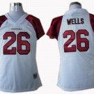 Chris (Beanie) Wells #26 White Arizona Cardinals Women's Jersey