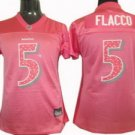 Joe Flacco #5 Pink Baltimore Ravens Women's Jersey
