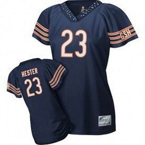 Devin Hester #23 Navy Chicago Bears Women's Jersey