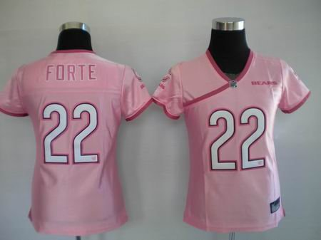 Matt Forte #22 Pink Chicago Bears Women's Jersey