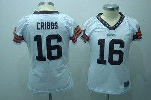 Joshua Cribbs #16 White Cleveland Browns Women's Jersey