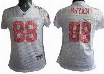 Dez Bryant #88 White Dallas Cowboys Women's Jersey