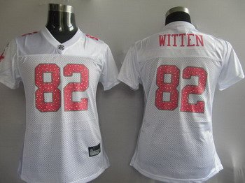 Jason Witten #82 White Dallas Cowboys Women's Jersey