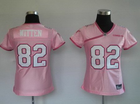 Jason Witten #82 Pink Dallas Cowboys Women's Jersey