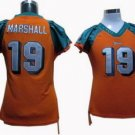 Brandon Marshall #19 Orange Miami Dolphins Women's Jersey