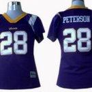 Adrian Peterson #28 Purple Minnesota Vikings Women's Jersey