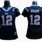 Tom Brady #12 Navy New England Patroits Women's Jersey