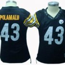 Troy Polamalu #43 Black Pittsburgh Steelers Women's Jersey