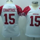 Michael Crabtree #15 White San Francisco 49ers Women's Jersey