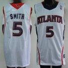 Josh Smith #5 White Atlanta Hawks Men's Jersey