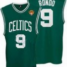 Rajon Rondo #9 Green W/White Letters Boston Celtics Men's Jersey