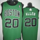 Ray Allen #20 Green W/Black Letters Boston Celtics Men's Jersey
