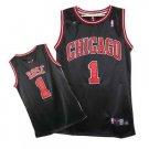 Derrick Rose #1 Black Chicago Bulls Men's Jersey