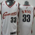 Shaq O'Neal #33 White Cleveland Cavaliers Men's Jersey