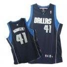 Dirk Nowitzki #41 Blue Dallas Mavericks Men's Jersey