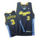 Allen Iverson #3 Navy Denver Nuggets Men's Jersey