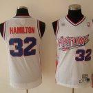 Richard Hamilton #32 White Retro Detroit Pistons Men's Jersey
