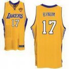 Andrew Bynum #17 Yellow Los Angeles Lakers Men's Jersey